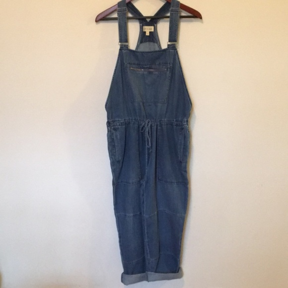 251018f0f0f9 Anthropologie Denim - Anthropologie Cloth   Stone chambray jean overalls